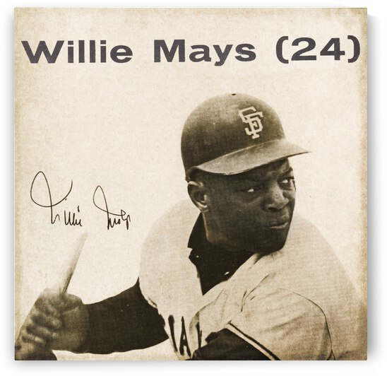 1965 Willie Mays Art by Row One Brand