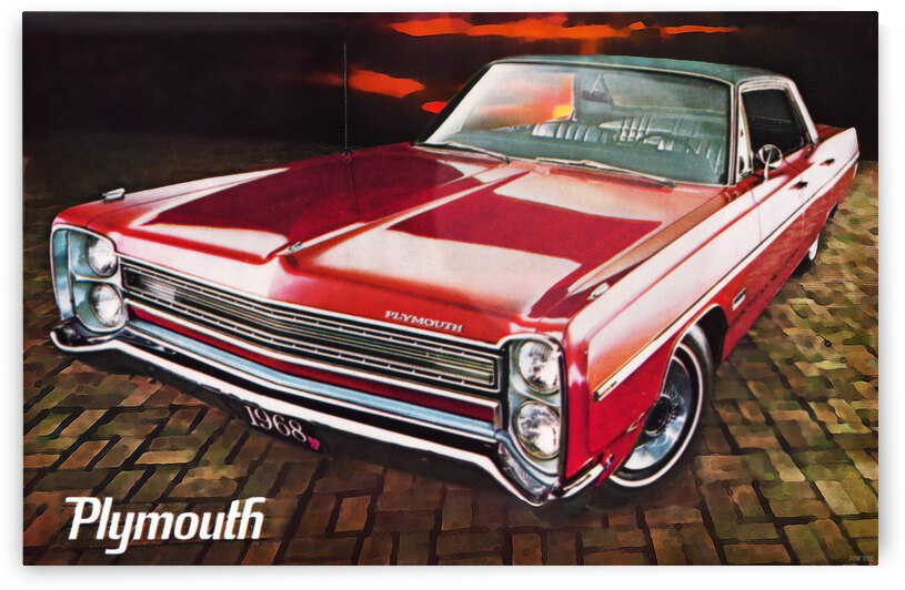 1968 Plymouth Car Advertisement by Row One Brand