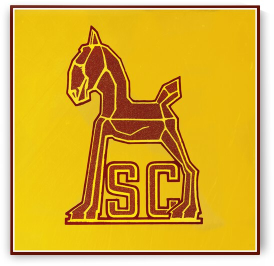 Vintage Forties USC Trojan Decal Art by Row One Brand