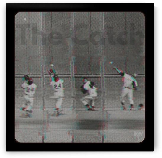 1954 The Catch Willie Mays Glitch TV Art by Row One Brand