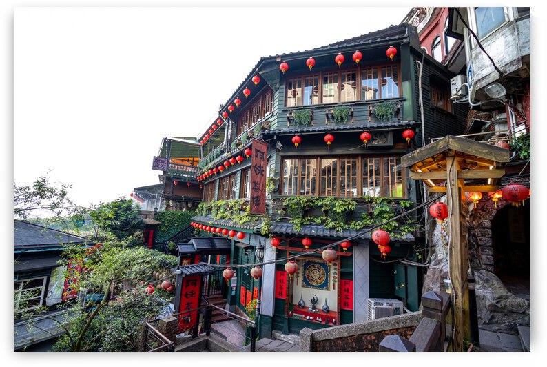 Jiufen Teahouse by Jairam Poupart