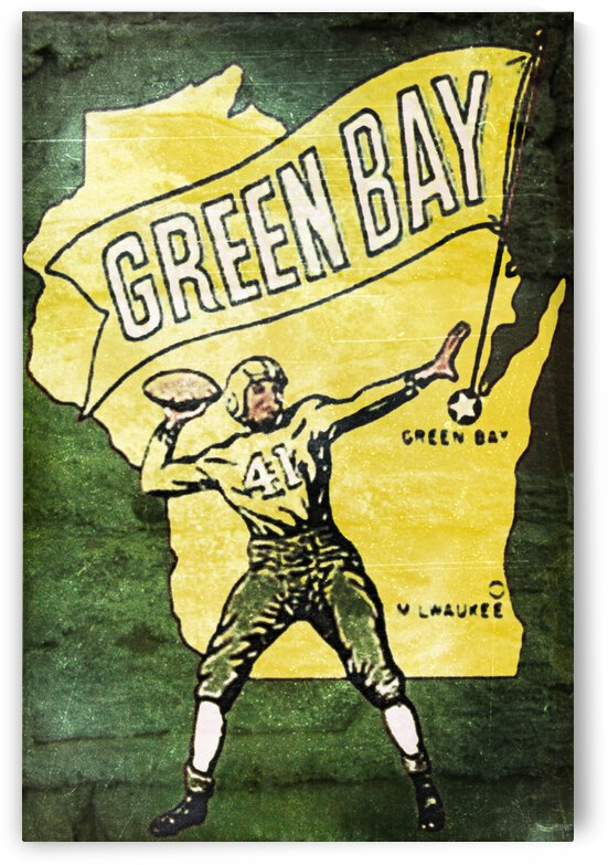 Vintage Fifties Green Bay Packers Art by Row One Brand