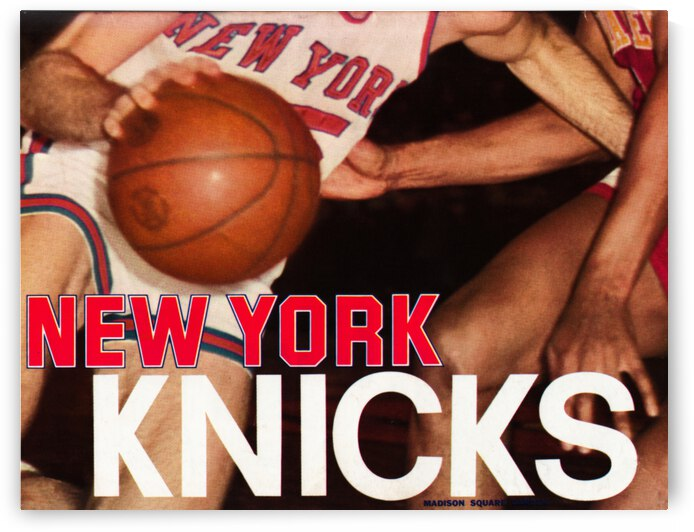 1977 New York Knicks Basketball Cover Art by Row One Brand