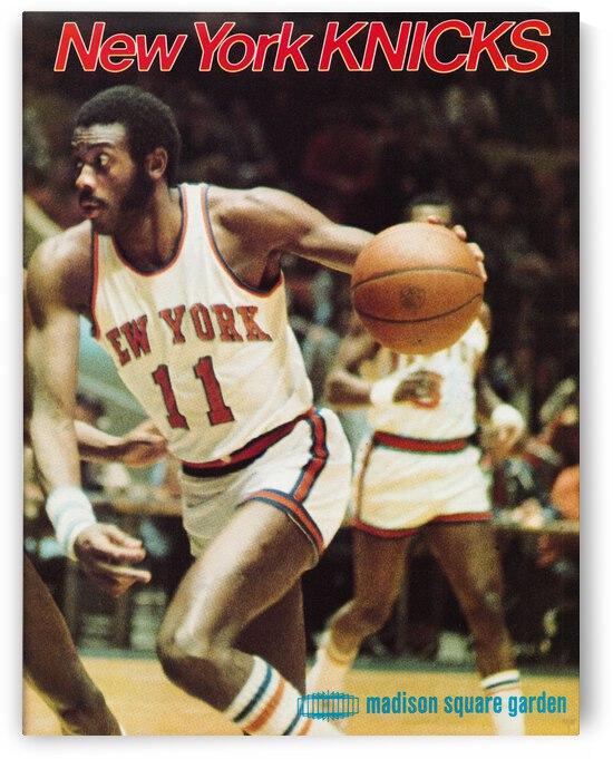 1977 New York Knicks Retro Poster by Row One Brand
