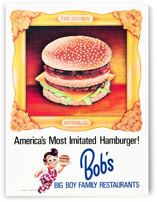 1969 Bobs Big Boy Advertisement Poster by Row One Brand