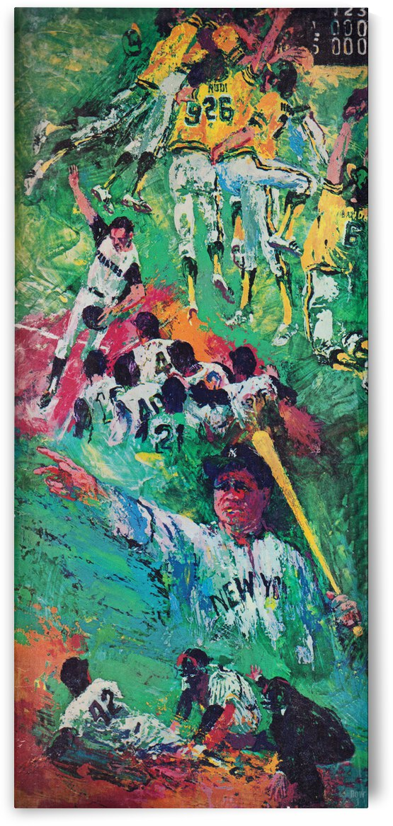 1975 LeRoy Neiman Baseball Art Remix by Row One Brand