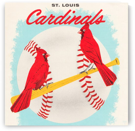 1957 St. Louis Cardinals Art by Row One Brand