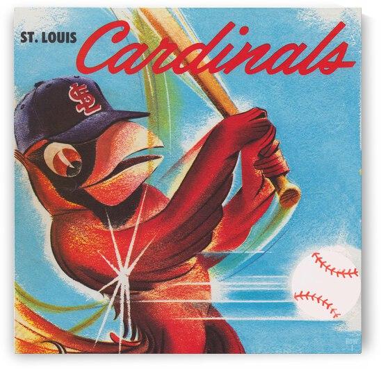 1964 St. Louis Cardinals Scorecard Remix Art by Row One Brand