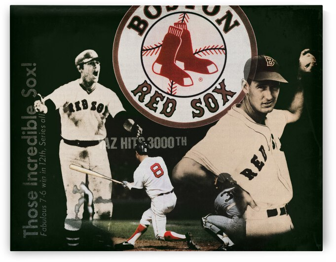 1980 Boston Red Sox Remix Art by Row One Brand