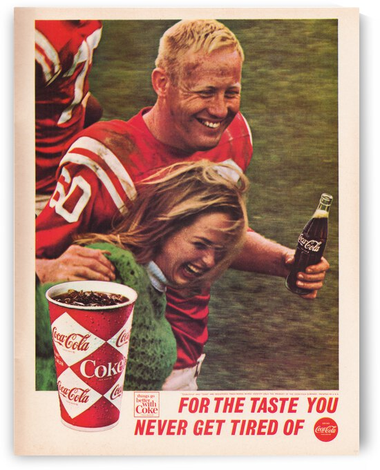 1966 Coke Ad Reproduction Art Poster by Row One Brand