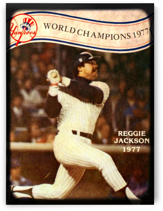 1977 New York Yankees Reggie Jackson Viewfinder Art by Row One Brand