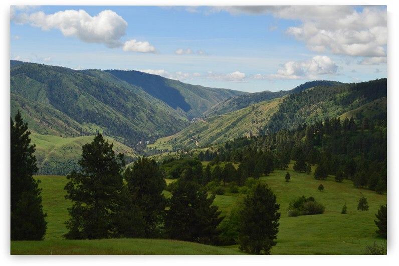 Banks Idaho rolling hills landscape by Michelle K Wood