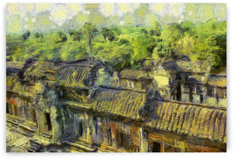 CAMBODIA 132 Angkor Wat  Siem Reap VincentHD by Cambodia painting