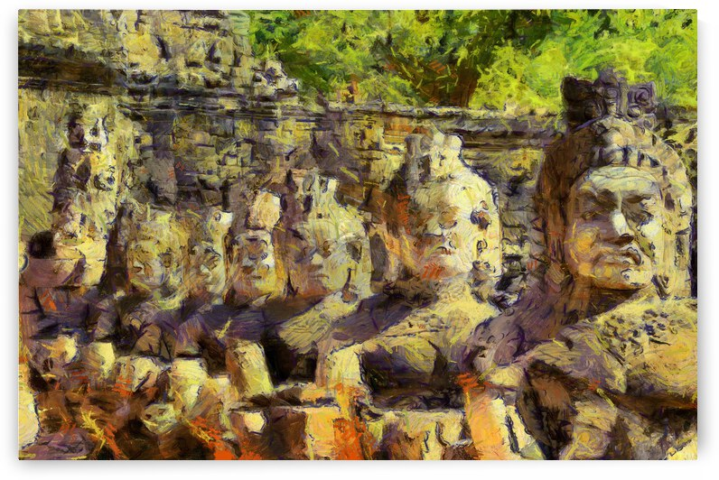 CAMBODIA Angkor Wat oil painting in Vincent van Gogh style. 141 by Cambodia painting