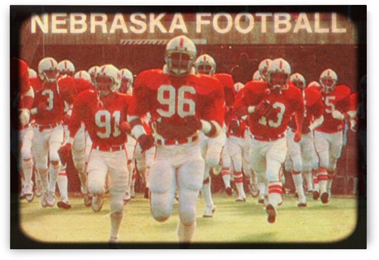 1981 Nebraska Football Viewfinder Art by Row One Brand