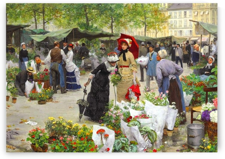 A visit to the flower market by Victor Gilbert