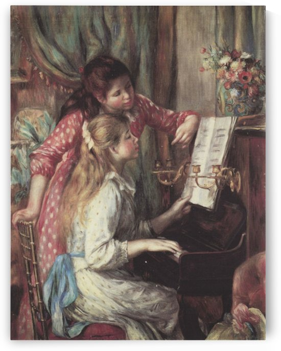 Young girls at the piano -2- by Renoir by Renoir