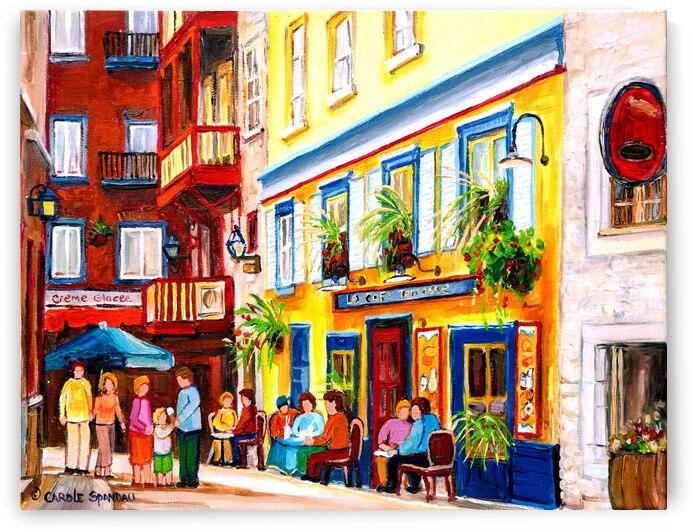 COURTYARD CAFE STREET SCENE by Carole  Spandau