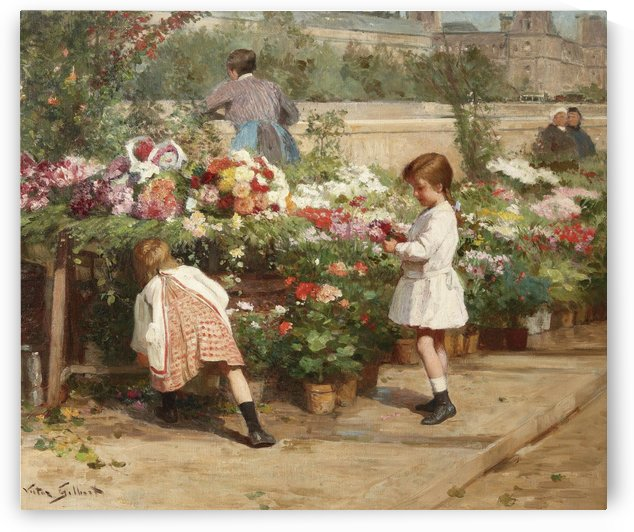 The young flower seller by Victor Gilbert