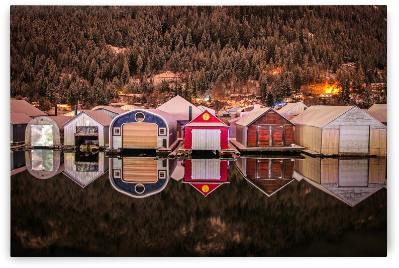 Boat Houses - Nelson BC by Stephan Malette