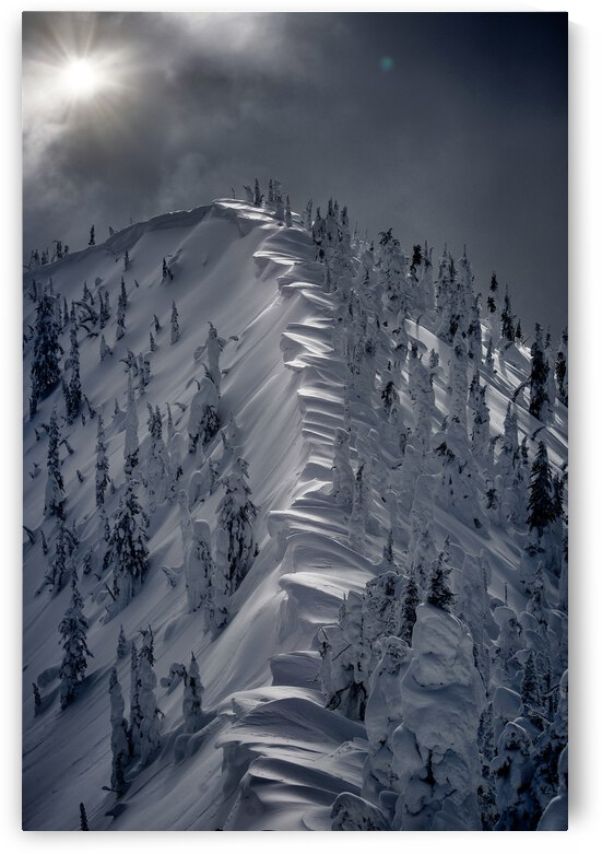 Snow Cornices - Baldface Lodge by Stephan Malette