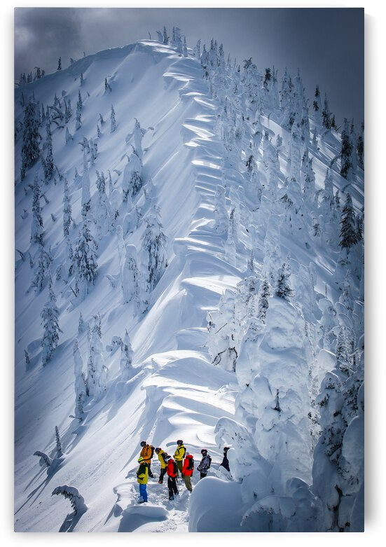No Friends on Pow Days - Baldface Lodge by Stephan Malette