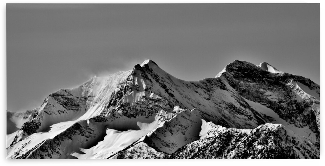 Monument Mountain Panorama B&W by Stephan Malette