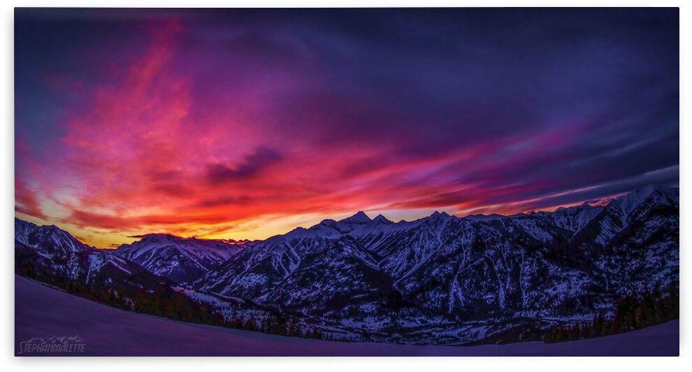 Sunset Mtn.Nelson by Stephan Malette