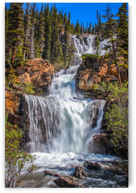 Waterfalls - Jasper National Park by Stephan Malette