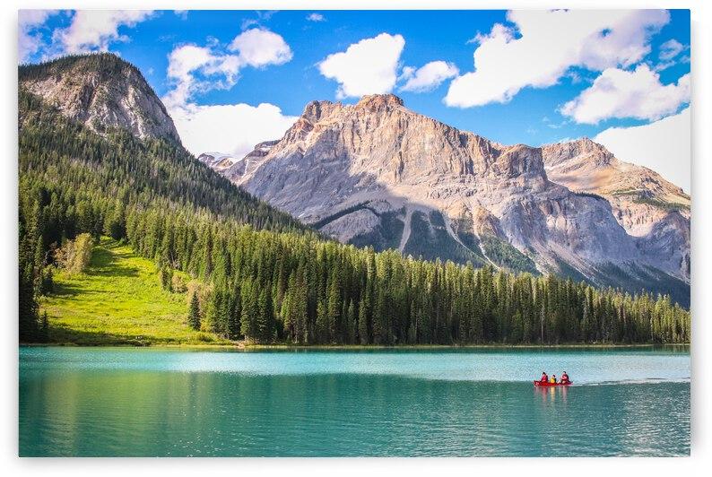 Emerald Lake - Canoe by Stephan Malette