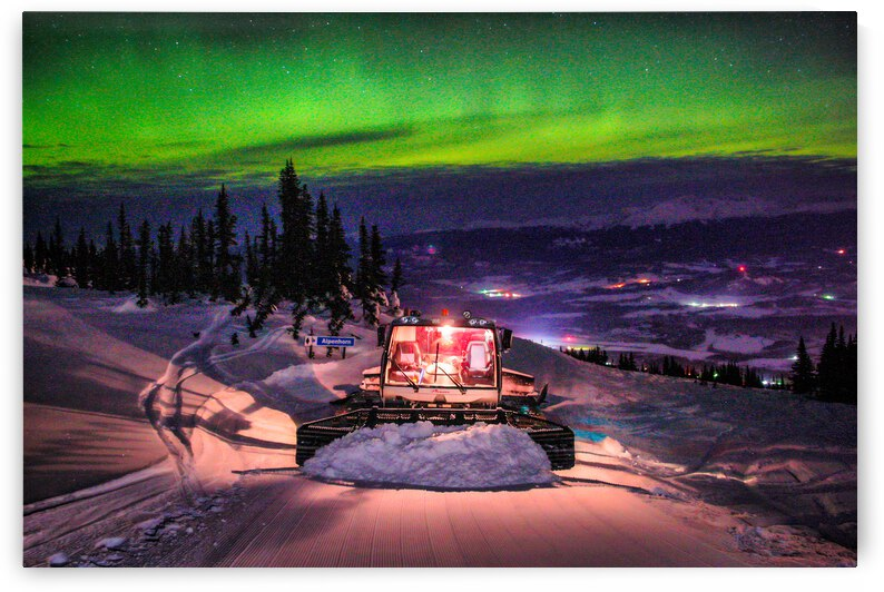 Snowcat Northern Lights - Smithers BC by Stephan Malette