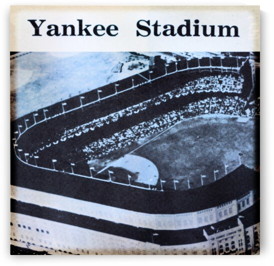 1958 Yankee Stadium Viewfinder Slide Art by Row One Brand