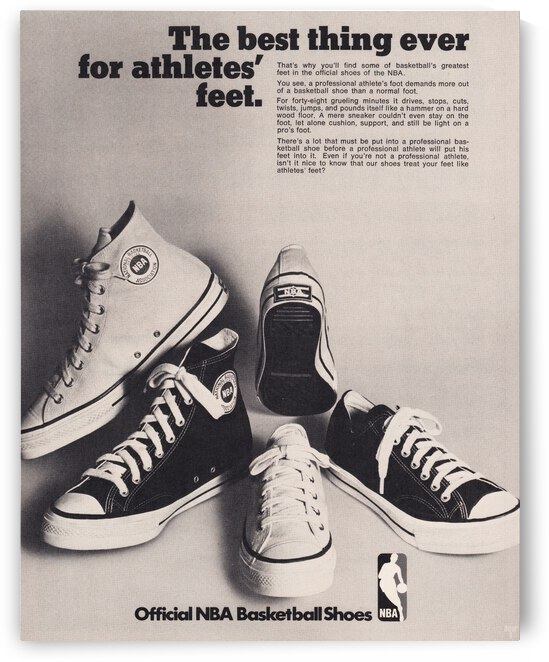 1973 NBA Shoes Ad Poster by Row One Brand