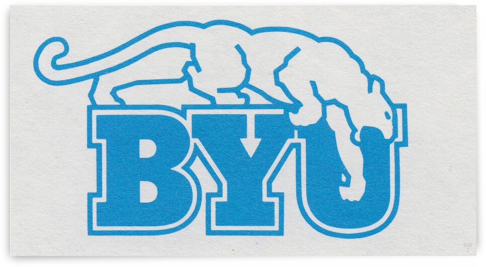 1982 BYU Cougar Art  by Row One Brand