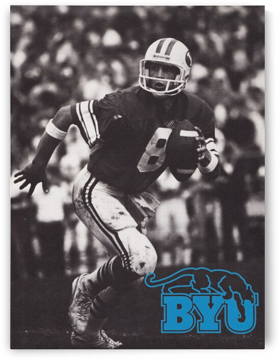 Retro BYU Football Steve Young Poster by Row One Brand