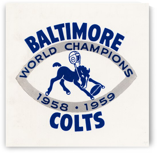 1958 Baltimore Colts World Champions Art by Row One Brand