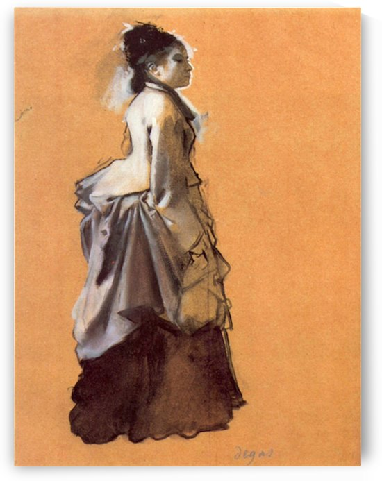 Young lady in the road costume by Degas by Degas