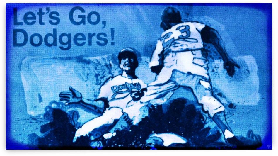 1968 LA Dodgers Baseball Viewfinder Slide Art by Row One Brand