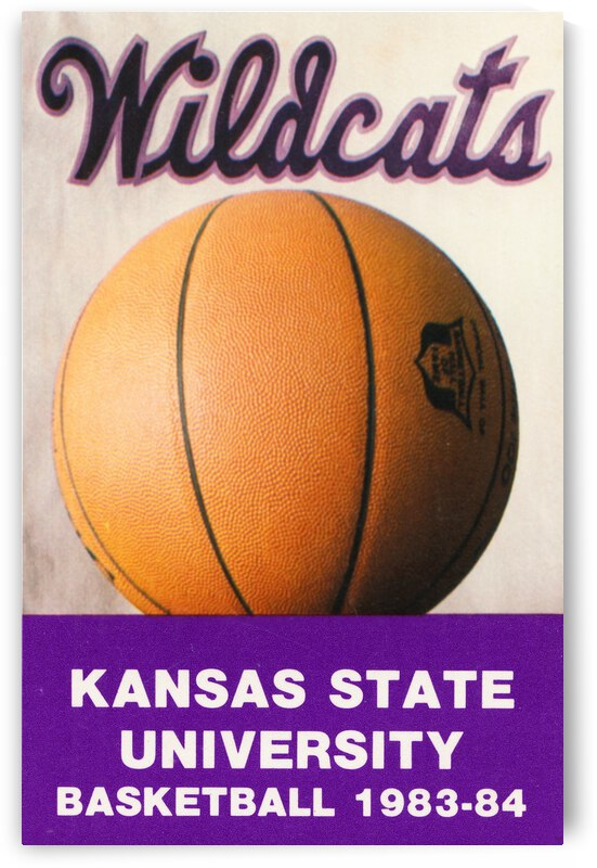 1983 Kansas State Wildcats Basketball Poster by Row One Brand