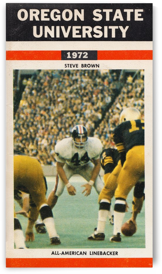 1972 Oregon State Retro Football Poster by Row One Brand