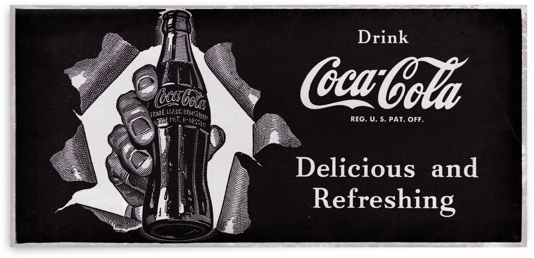 1952 Vintage Coke Ad Wall Art by Row One Brand