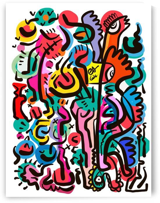 Sugar Pop Abstract Creatures by Signorino