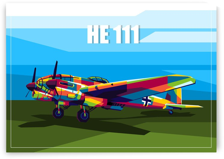 HE 111 Bomber by wpaprint