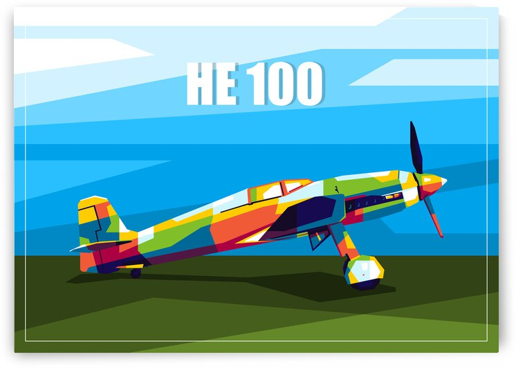 HE 100 Fighter  by wpaprint