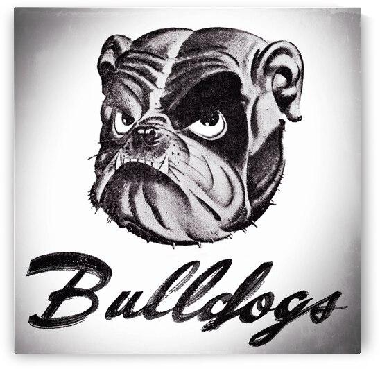 1941 Bulldog Art  by Row One Brand