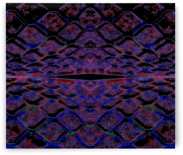 Blue Red Abstract by Dorothy Berry-Lound