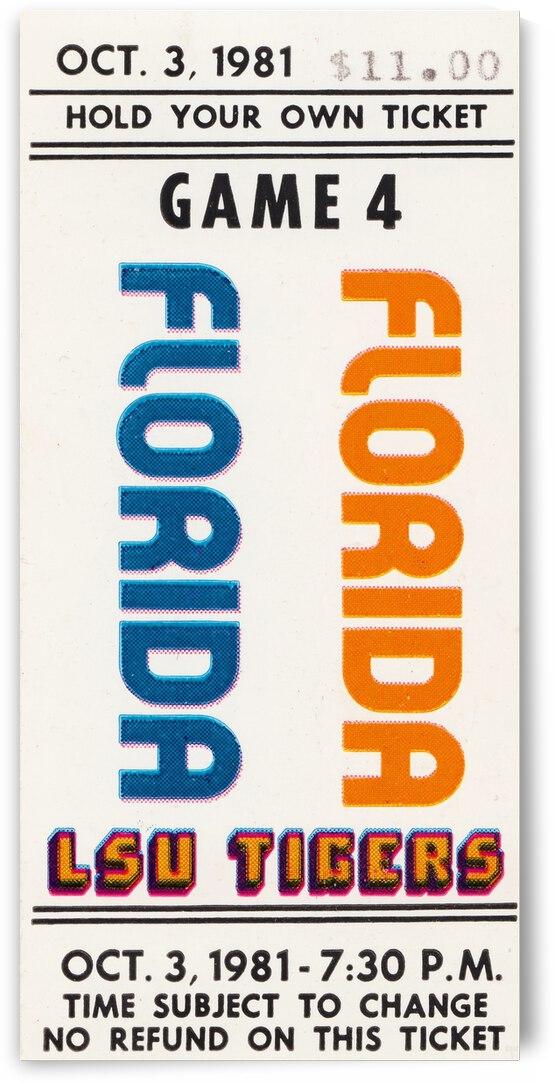 1981 LSU vs. Florida Football Ticket Canvas by Row One Brand
