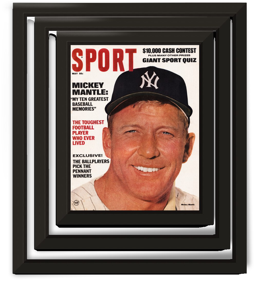 1967 Mickey Mantle Sport Magazine Cover Art by Row One Brand