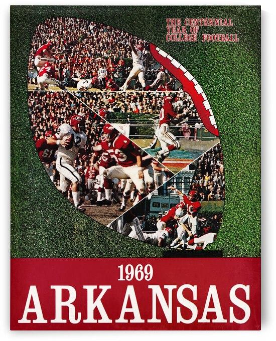 1969 Arkansas Razorbacks Football Art by Row One Brand