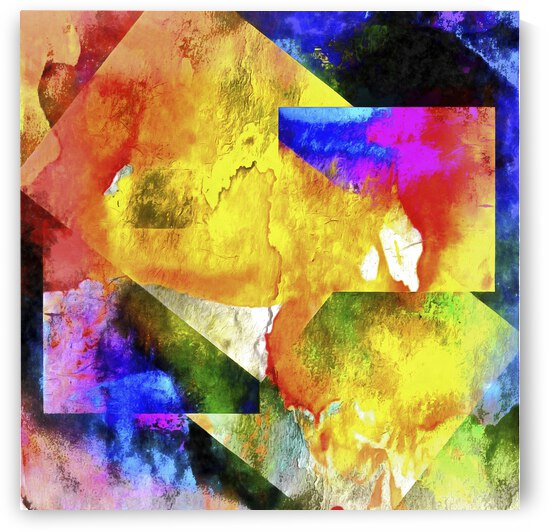Shapes in Abstract Rioting Colour by Dorothy Berry-Lound